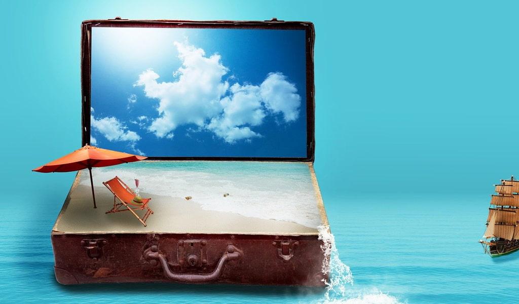 Valija en el mar