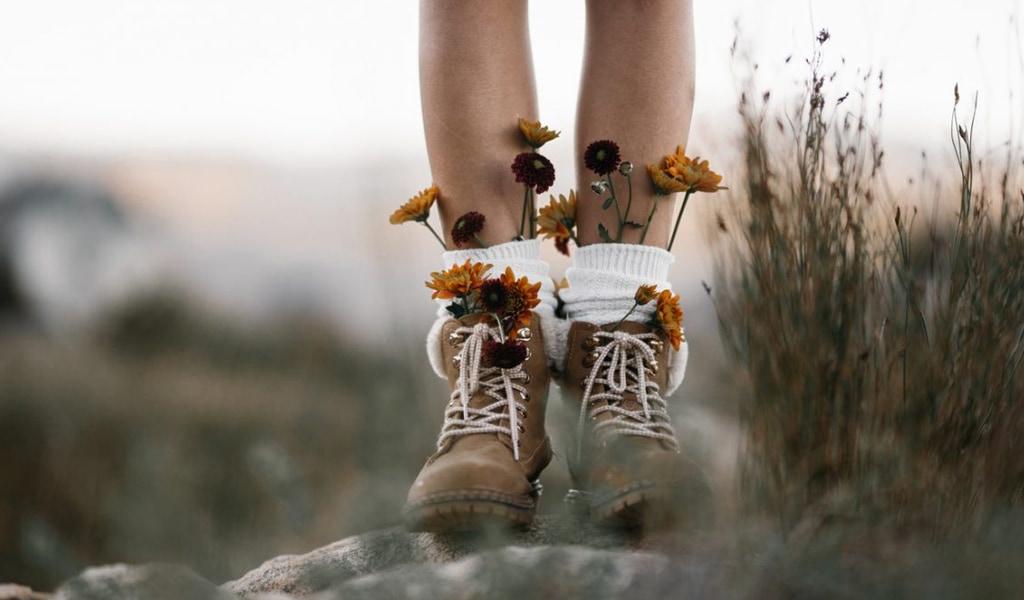 Botas de chica de montaña